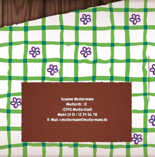 Ansicht 2 - Einladung Lebkuchenherz 80 Foto