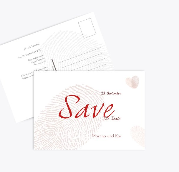 Save-the-Date fingerprint