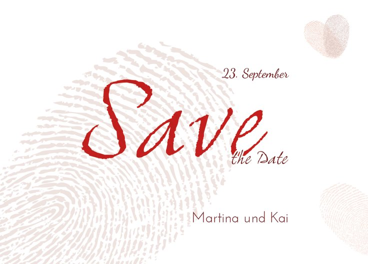 Ansicht 2 - Save-the-Date fingerprint
