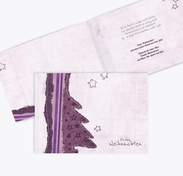 Grußkarte Stoffbaum