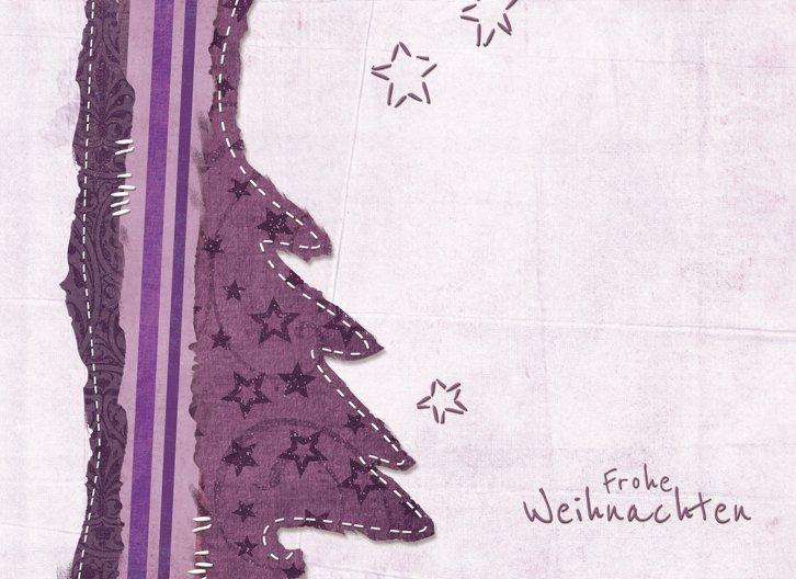 Ansicht 3 - Grußkarte Stoffbaum