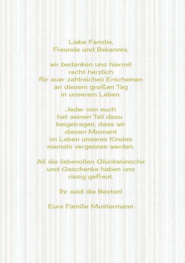 Ansicht 5 - Dankeskarte Streifenharmonie