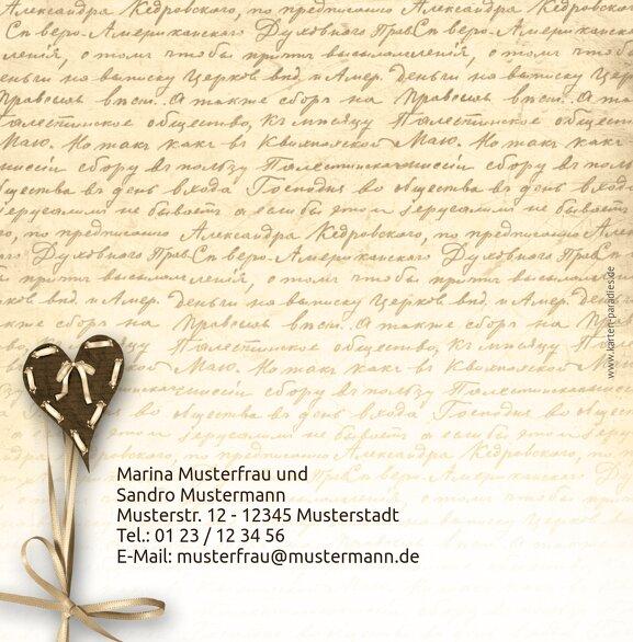 Ansicht 2 - Hochzeit Einladung Herzensgedicht