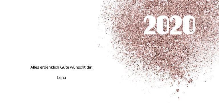 Ansicht 5 - Neujahrskarte Glitterschrift