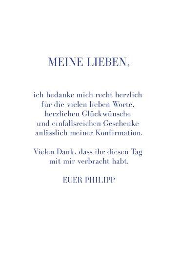 Ansicht 5 - Konfirmation Dankeskarte Himmelreich