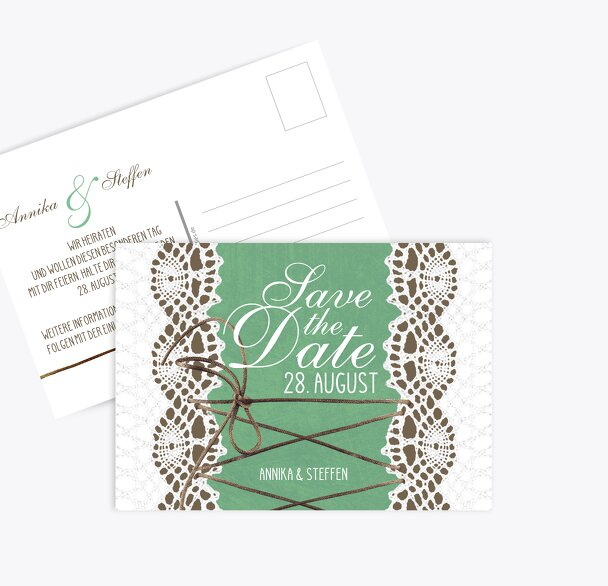 Save-the-Date Vintage Schleife