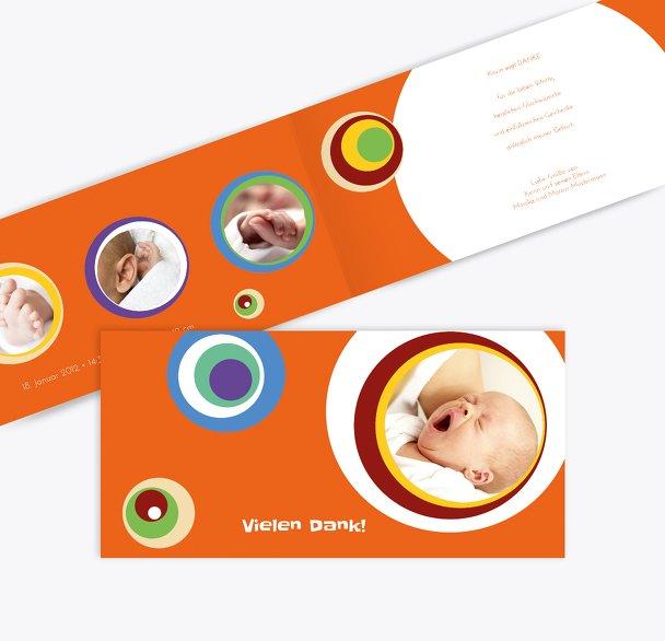 Baby Dankeskarte Retro