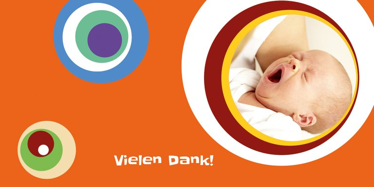 Ansicht 3 - Baby Dankeskarte Retro