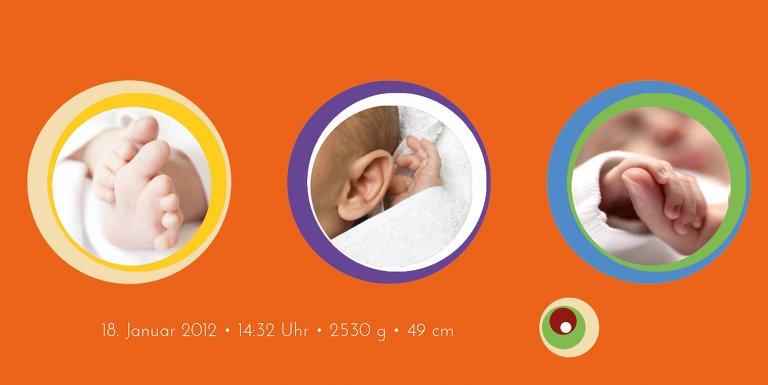Ansicht 4 - Baby Dankeskarte Retro
