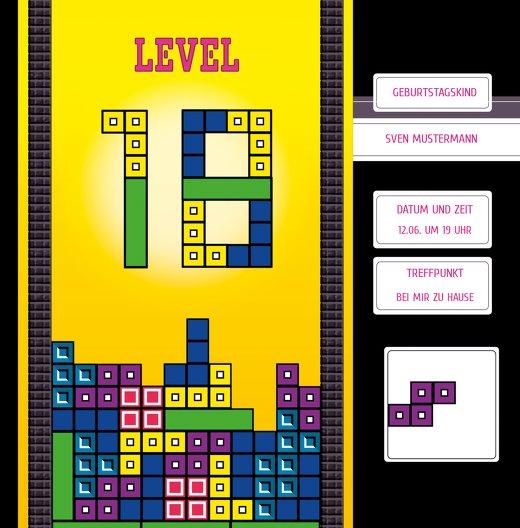 Ansicht 3 - Geburtstagskarte 8bit Game 18 Foto