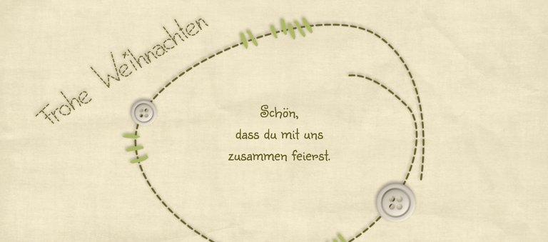 Ansicht 2 - Tischkarte Nahtbaum