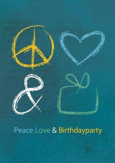 Ansicht 3 - Einladungskarte Birthdayparty Foto