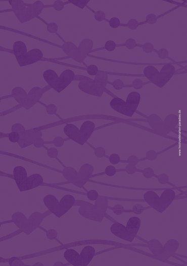 Ansicht 2 - Menükarte Im Zeichen der Liebe - Frauen