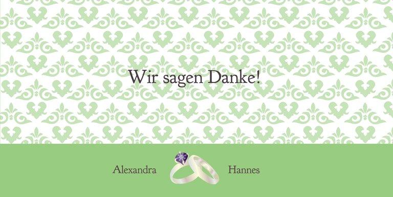 Ansicht 3 - Hochzeit Danke Ornament mit Herz