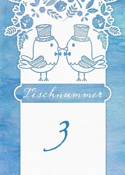 Ansicht 2 - Tischnummer Vogelpaar- Männer