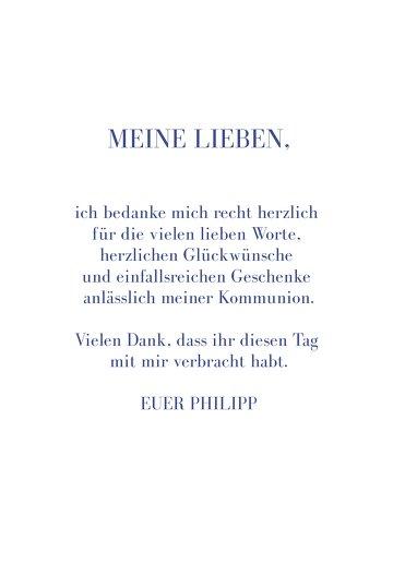 Ansicht 5 - Kommunion Dankeskarte Himmelreich