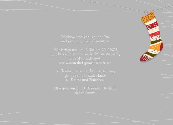 Ansicht 5 - Einladung Söckchen
