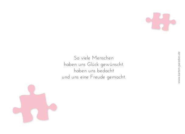 Ansicht 2 - Hochzeit Dankeskarte Puzzleteile
