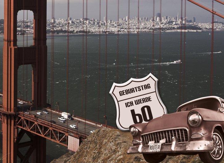 Ansicht 3 - Geburtstagskarte old bridge 60 Foto