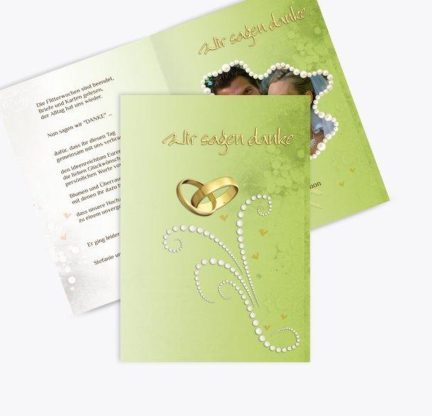 Hochzeit Danke Eheringe Perlen