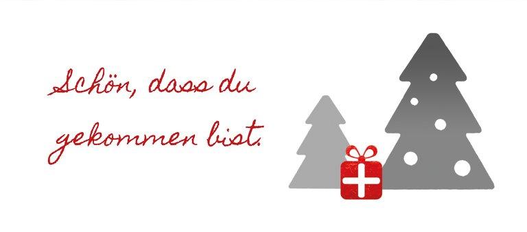 Ansicht 2 - Weihnachtstischkarte Geschenkebaum