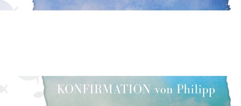 Ansicht 3 - Konfirmation Tischkarte Himmelreich