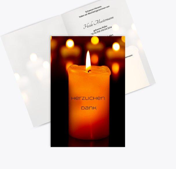 Dankeskarte Kerzenlichter