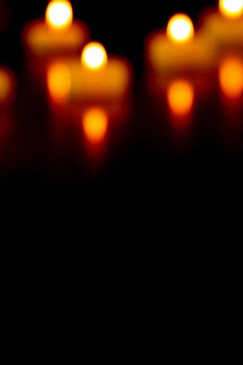 Ansicht 2 - Dankeskarte Kerzenlichter