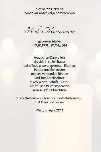 Ansicht 5 - Dankeskarte Kerzenlichter