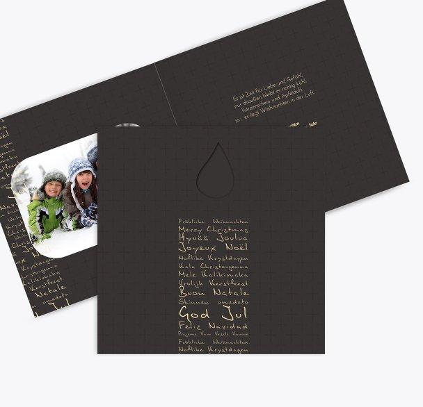 Foto Grußkarte Schriftkerze