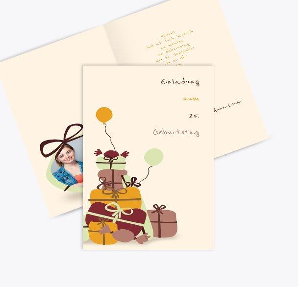 Einladungskarte giftmountain Foto