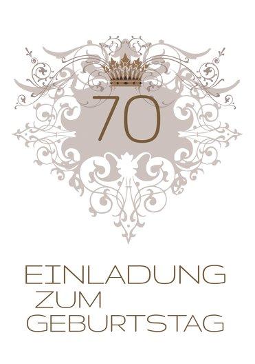 Ansicht 3 - Einladungskarte Krone 70