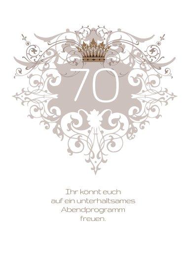 Ansicht 4 - Einladungskarte Krone 70