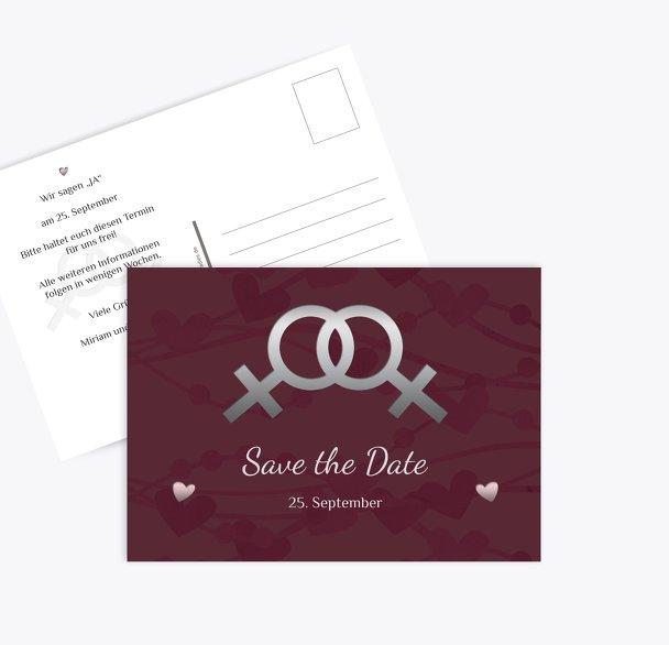 Save-the-Date Im Zeichen der Liebe - Frauen