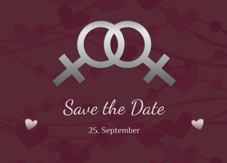 Ansicht 2 - Save-the-Date Im Zeichen der Liebe - Frauen