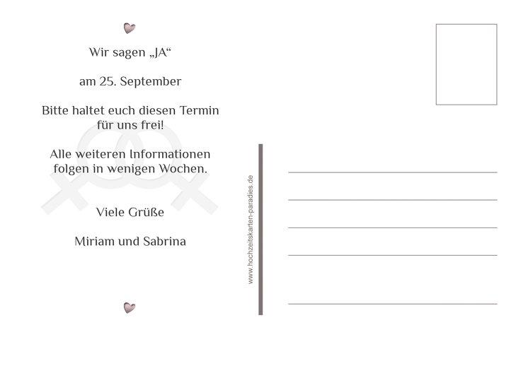 Ansicht 3 - Save-the-Date Im Zeichen der Liebe - Frauen