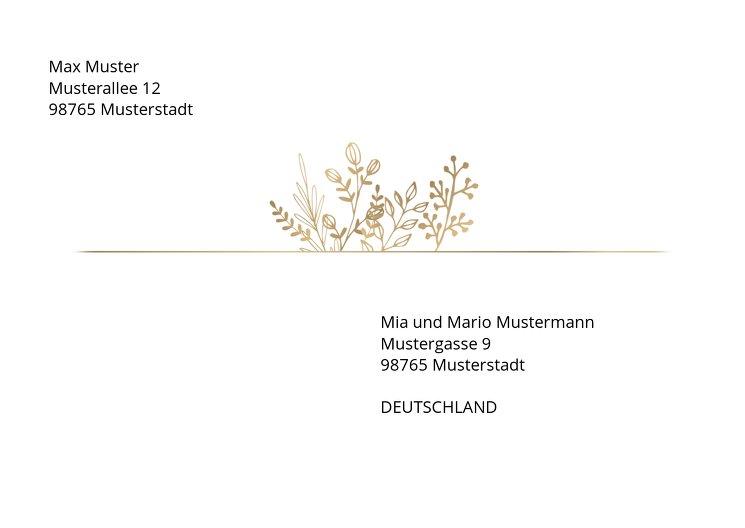 Ansicht 2 - Umschlag Goldblüte