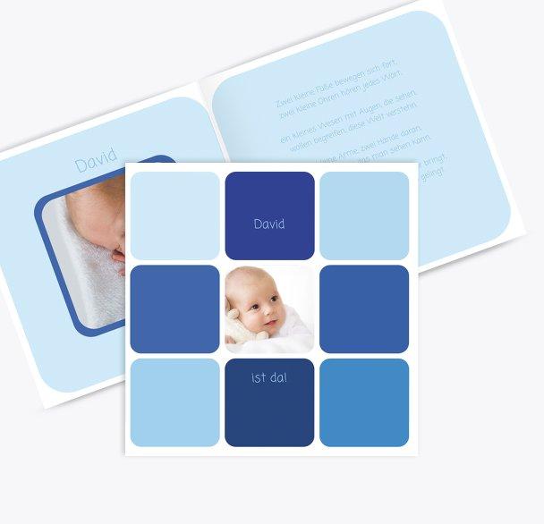 Babykarte Kästchen