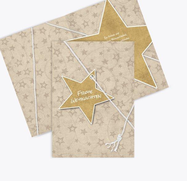 Grußkarte Sternenschnur