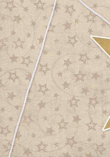 Ansicht 4 - Grußkarte Sternenschnur