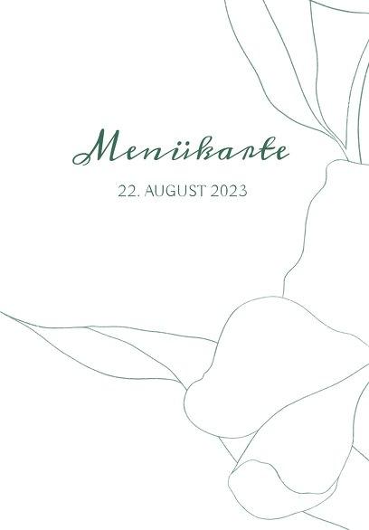 Ansicht 3 - Hochzeitskarten_Menü Zahrte Blume
