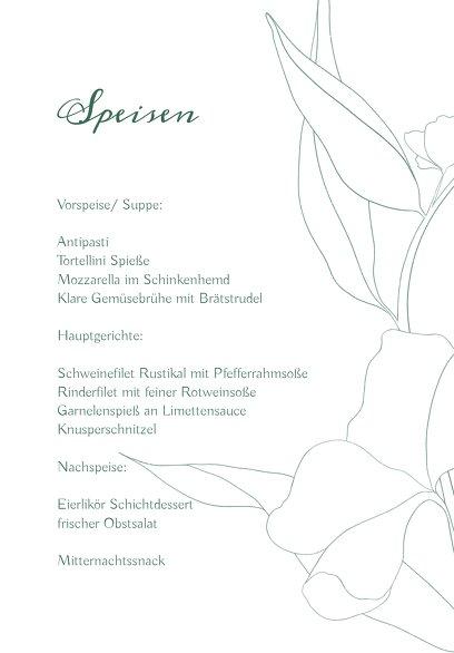 Ansicht 5 - Hochzeitskarten_Menü Zahrte Blume