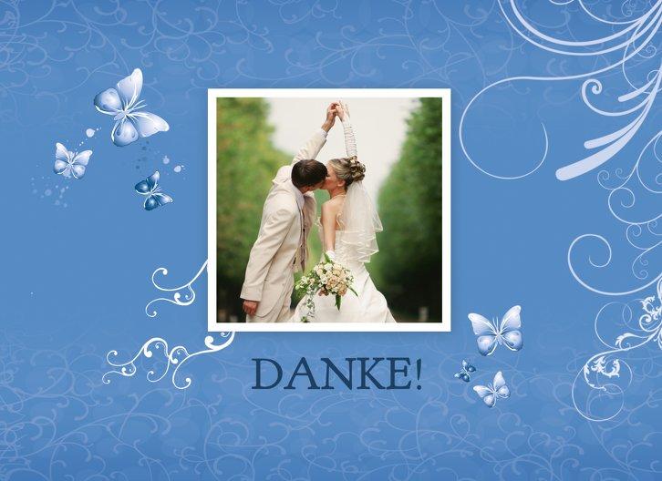 Ansicht 3 - Hochzeit Danke butterfly