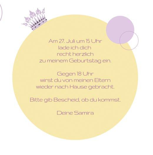 Ansicht 5 - Geburtstagseinladung Prinzessin