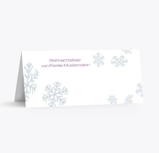 Tischkarte Schneesturm
