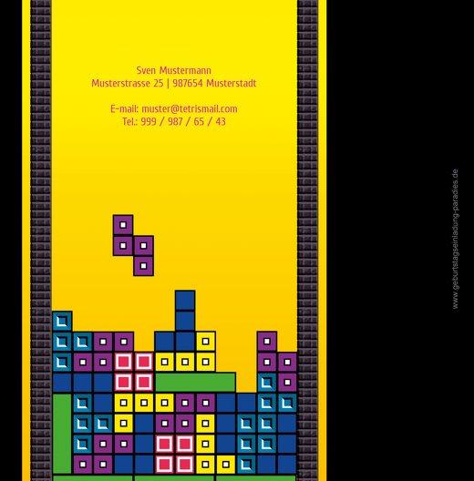 Ansicht 2 - Geburtstagskarte 8bit Game 50