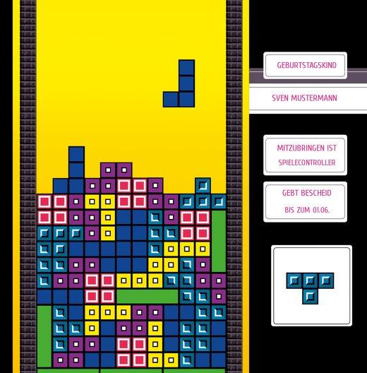 Ansicht 5 - Geburtstagskarte 8bit Game 50
