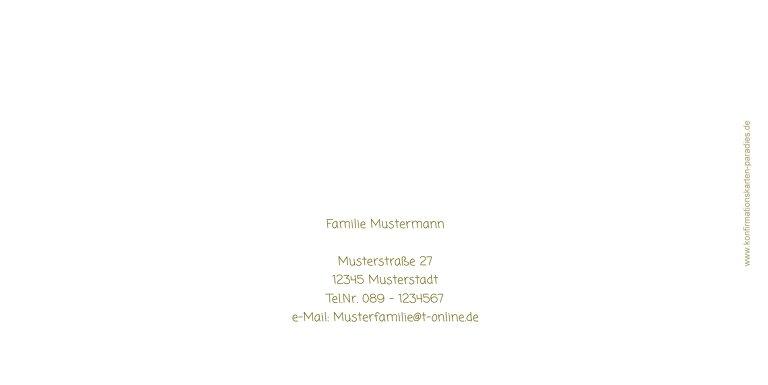 Ansicht 2 - Konfirmationskarte Einladung Triple