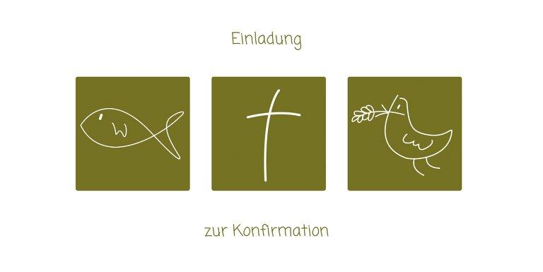 Ansicht 3 - Konfirmationskarte Einladung Triple