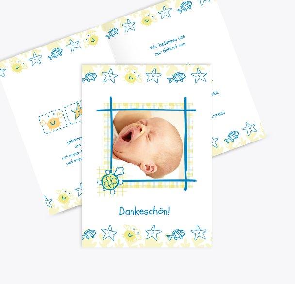 Baby Dankeskarte Smart